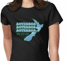 Aotearoa Aotearoa Aotearoa  oi oi oi NEW ZEALAND chanting  Womens Fitted T-Shirt