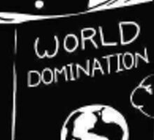 World domination cat Sticker