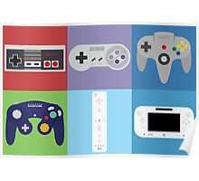 Nintendo Console Controllers Poster