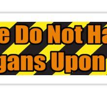 Organ Don'ter - Orange Sticker