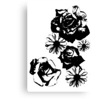 Roses and a Daisy Canvas Print