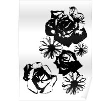 Roses and a Daisy Poster