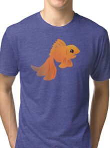 Elegant Golden pet goldfish Tri-blend T-Shirt