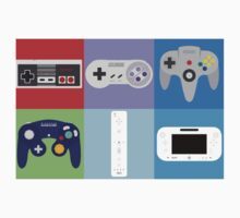 Nintendo Console Controllers Kids Tee