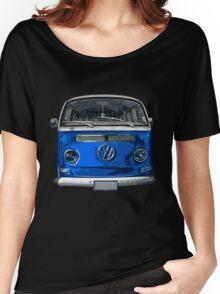 Volkswagen Blue combi cutout  Women's Relaxed Fit T-Shirt