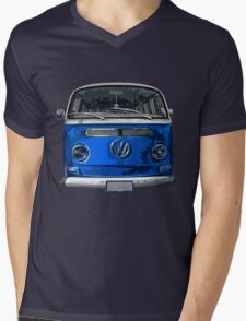 Volkswagen Blue combi cutout  Mens V-Neck T-Shirt