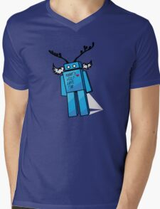 Robots Need Love Too Mens V-Neck T-Shirt