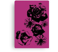 Rose and Daisy Mix Canvas Print