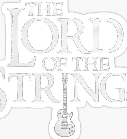Lord of the Strings. Sticker