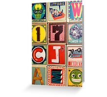 Silly ABC  Greeting Card