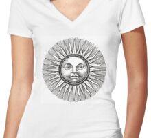 Big Sun Women's Fitted V-Neck T-Shirt