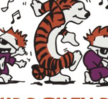 calvin and hobbes quote Sticker