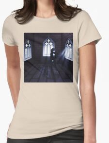 Haunted Interior and Ghost 3 Womens Fitted T-Shirt