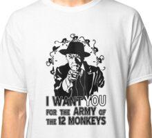 12 Monkeys: Pallid Man Wants You Classic T-Shirt