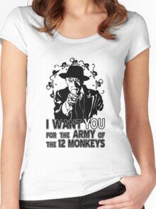 12 Monkeys: Pallid Man Wants You Women's Fitted Scoop T-Shirt