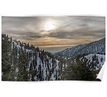 Mt. Baldy Sunset Poster