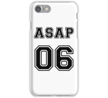 ASAP ROCKY COLLEGE JERSEY 06 BLACK iPhone Case/Skin