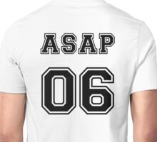 ASAP ROCKY COLLEGE JERSEY 06 BLACK Unisex T-Shirt