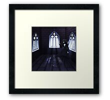 Haunted Interior and Ghost 4 Framed Print