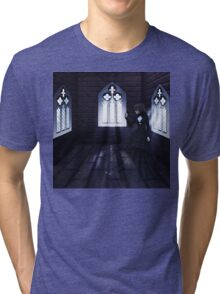 Haunted Interior and Ghost 4 Tri-blend T-Shirt