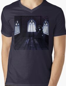 Haunted Interior and Ghost 4 Mens V-Neck T-Shirt