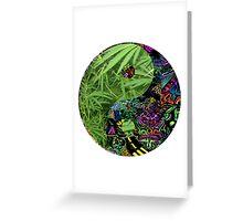 weed yin yang Greeting Card