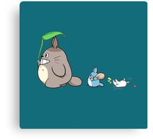 totoro queue Canvas Print