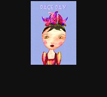 Girl In Bird Hat, Pencil drawing, Race Day. Unisex T-Shirt