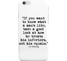 J.K Rowling Quote 1 iPhone Case/Skin