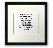 J.K Rowling Quote 1 Framed Print