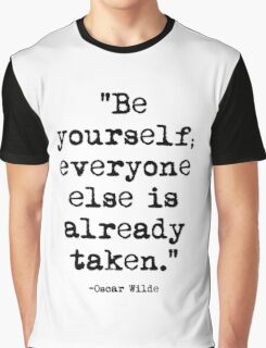 Oscar Wilde Quote 1 Graphic T-Shirt