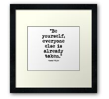 Oscar Wilde Quote 1 Framed Print