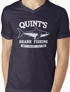 Quint's Shark Mens V-Neck T-Shirt