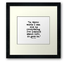 Robert Frost Quote 1 Framed Print