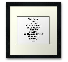 Dr.Seuss Quote 2 Framed Print