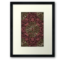 Damask in red and gold 1.0 Framed Print