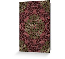 Damask in red and gold 1.0 Greeting Card