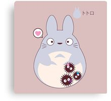 totoro funny ghost Canvas Print