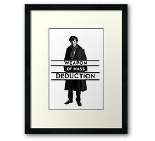 Sherlock - Weapon of Mass Deduction Framed Print