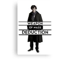 Sherlock - Weapon of Mass Deduction Canvas Print