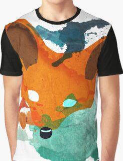 Watercolor Fox Graphic T-Shirt