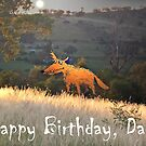 Fox in the Moonlight, Happy Birthday Dad.Humor by Mary Taylor