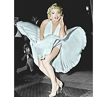Marilyn Monroe in Colour Photographic Print