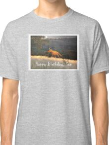 Fox in the Moonlight, Happy Birthday Son, Humor Classic T-Shirt