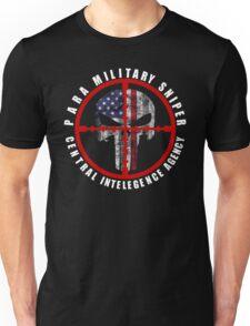 CIA Paramilitary Sniper Punisher Skull Unisex T-Shirt