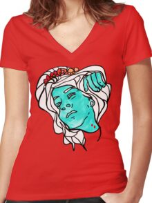 the dead know better Women's Fitted V-Neck T-Shirt