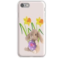 Rabbit with Easter egg iPhone Case/Skin