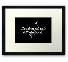 Who Are You Now? (black) Framed Print