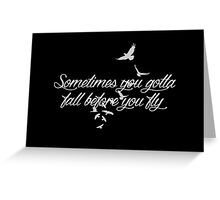 Who Are You Now? (black) Greeting Card