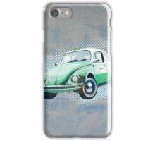 Retro beetle taxi iPhone Case/Skin